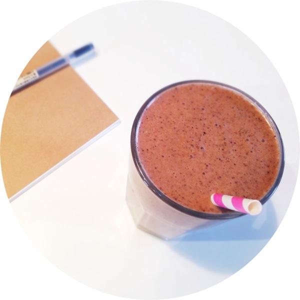 Triple chocolate protein milkshake