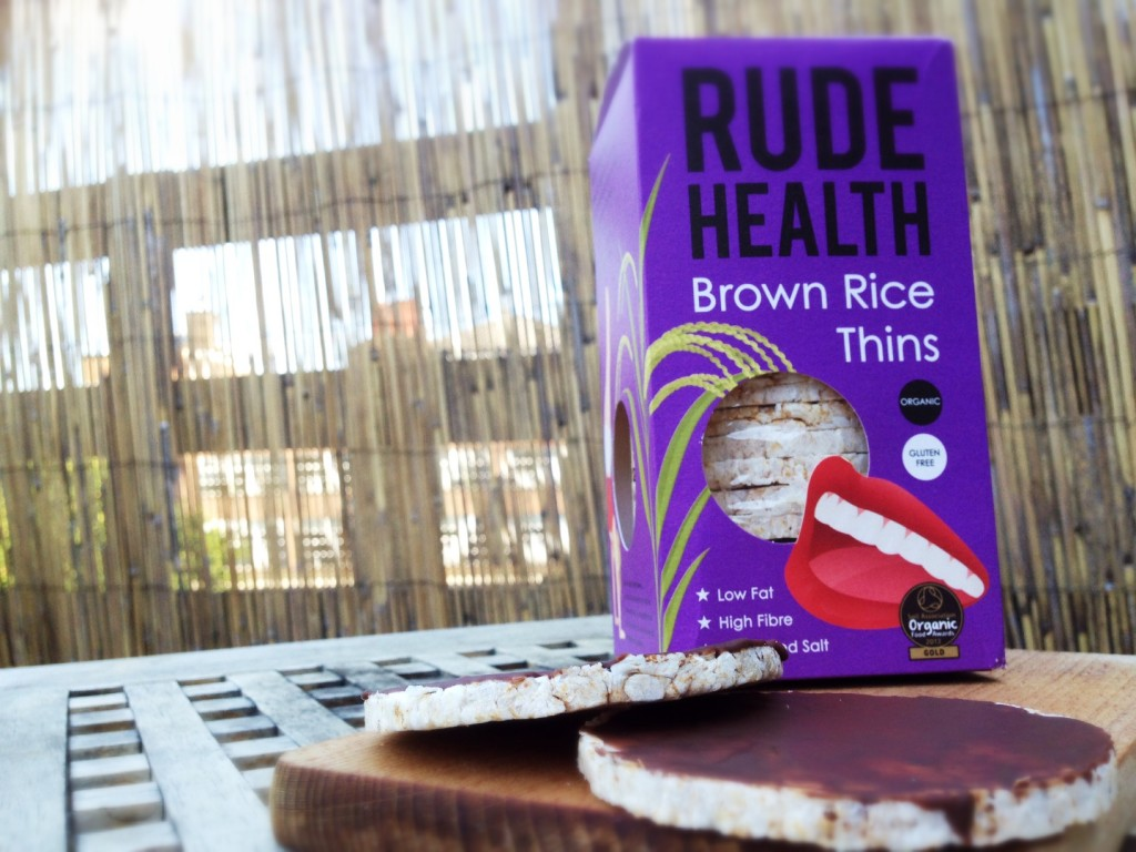 chocolate rice cake recipe with Rude Health