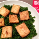 tofu and miso kale salad