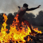 Reebok Spartan Race fire jumping