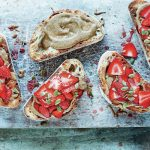 Marinated Strawberries and Almond Butter Sourdough by Pippa Murray