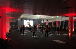 The Reebok Fitness Studio hosting a Gymbox Class at Be:Fit London