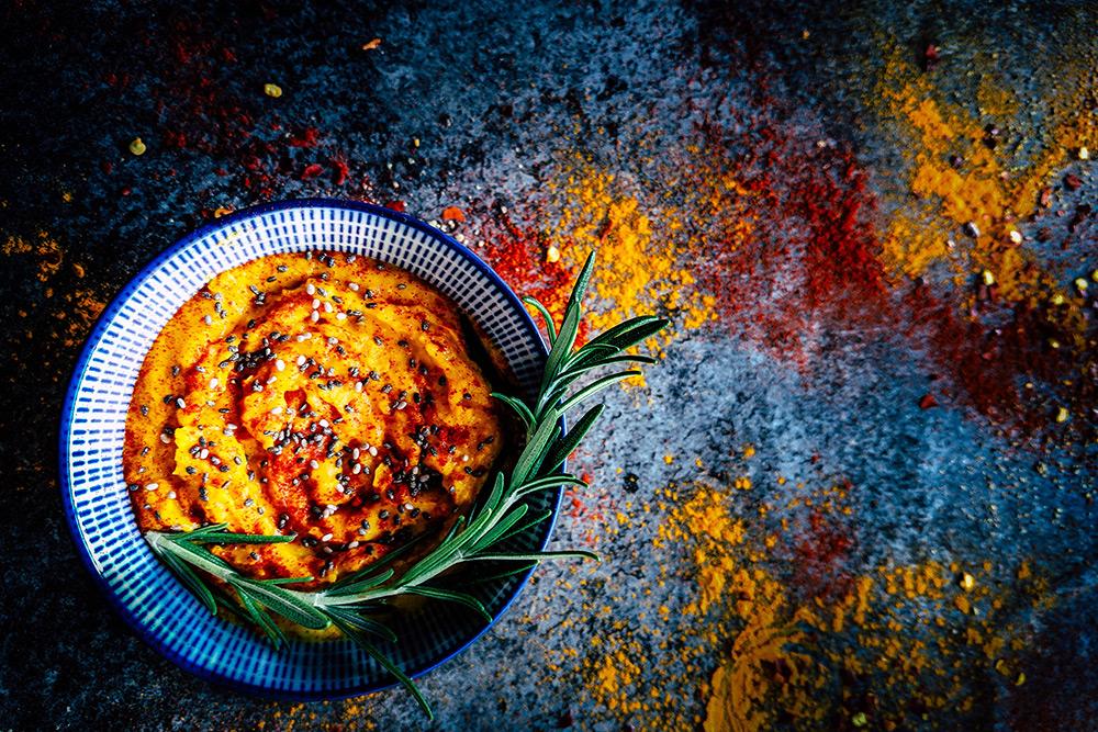 turmeric hummous recipe