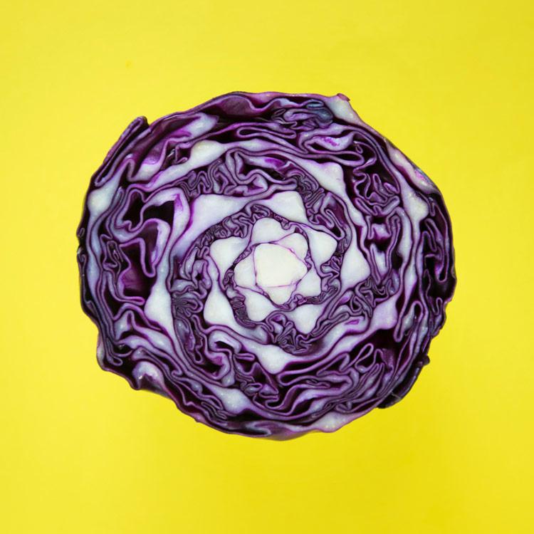 red sauerkraut with garlic and chilli