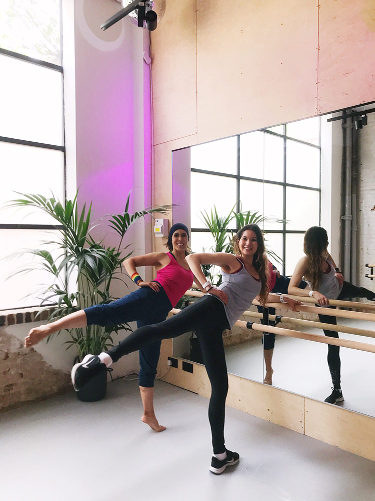 Eliza Flynn and Rosie Flynn at Disco Barre at the Factory in Dalston