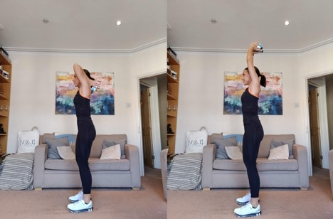 Overhead Tricep Extension - 3 Orangetheory Fitness Home Workouts