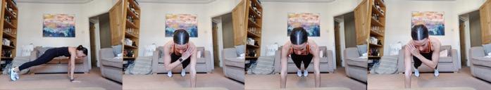 Plank Shoulder Taps - 3 Orangetheory Fitness Home Workouts