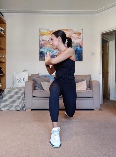 Reverse Lunge to Torso Rotation - 3 Orangetheory Fitness Home Workouts