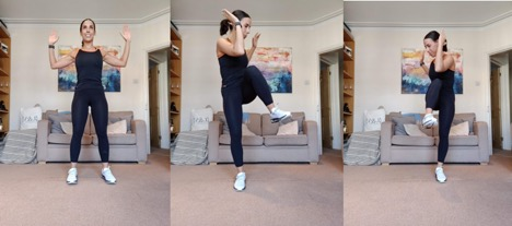 Standing Cross Body Lunges