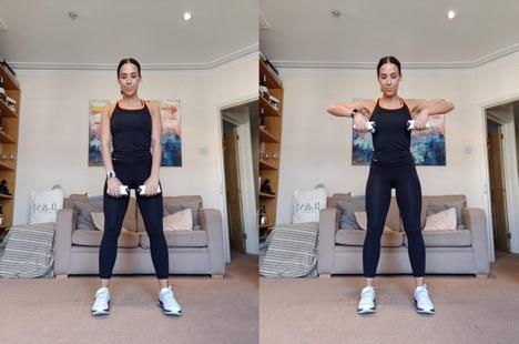 Upright Rows - 3 Orangetheory Fitness Home Workouts
