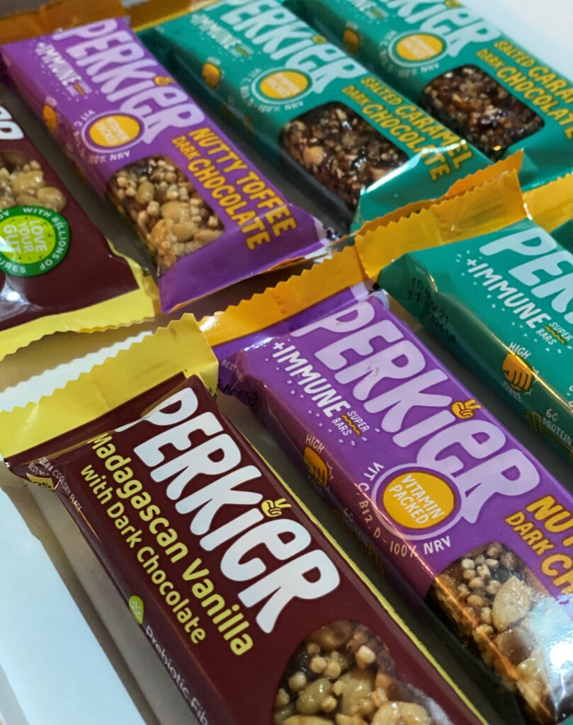 A selection of Perkier's delicious bars