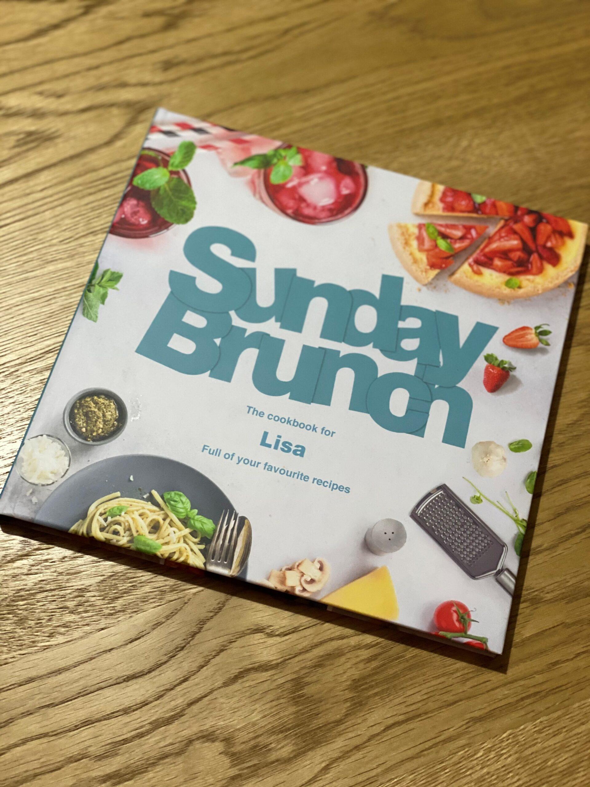 Sunday Brunch personalised cookbook