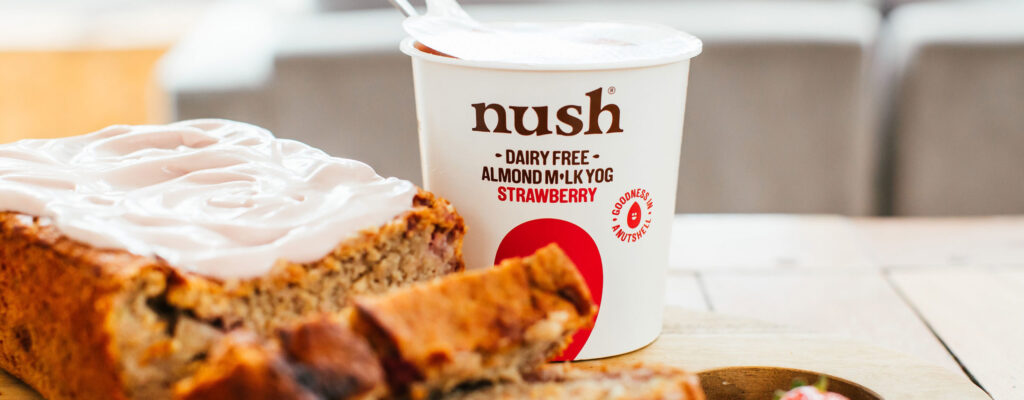 Nush Strawberry and Banana Breakfast Loaf