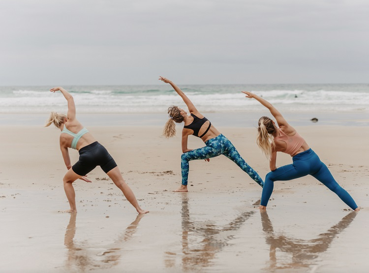 Vitamin Sea Collective Rosie Marns, Tehillah McGuiness, Charlotte Lodey Workout and Waves