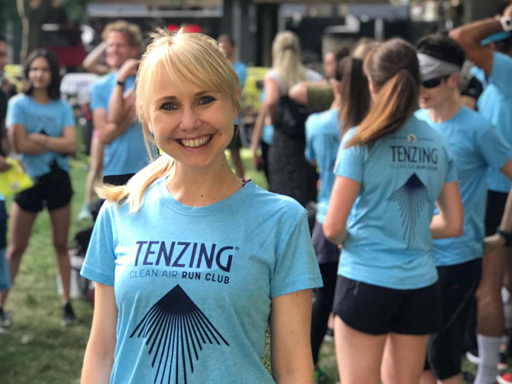 Lizzy Silverton and Tenzing